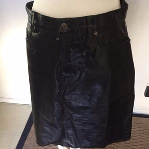 New Without Tags Leather Skirt